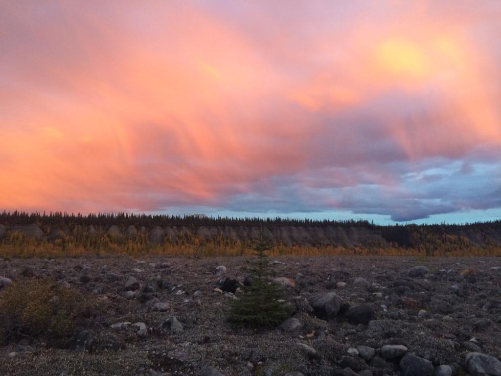 Beneath the Borealis Trifecta 12-18-17 Alaskan sunset