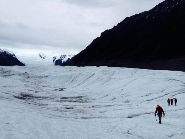 Beneath the Borealis Swimming Kennicott glacier Alaska