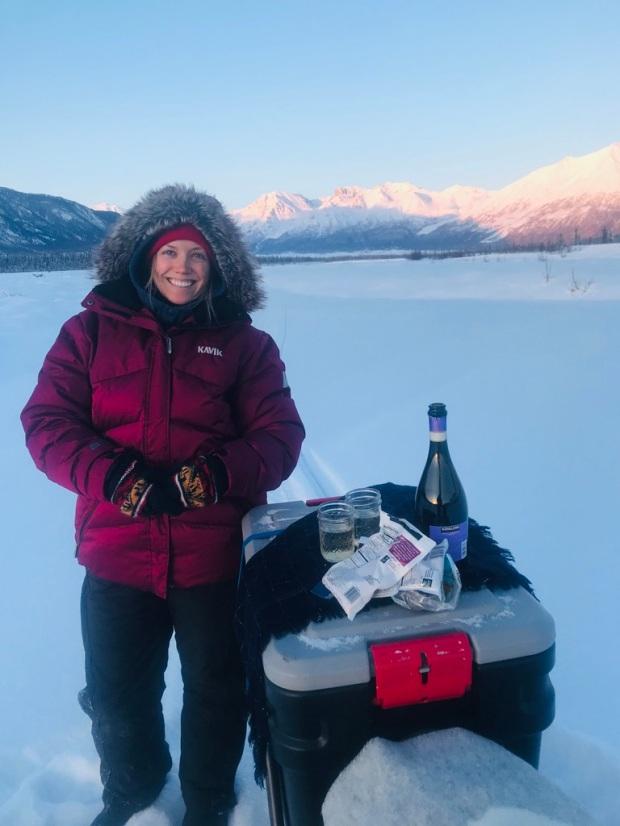 Beneath the Borealis, 40 Below (Alone), January 27th, 2020, 25 Below Zero in Alaska with Champagne