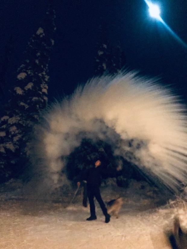 Beneath the Borealis, 40 Below (Alone), January 27th, 2020, 50 Below Zero in Alaska Frozen Water